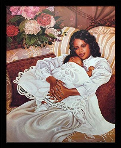 Us art my angel mother child katherine roundtree  black framed african american print wall decor poster from we also love in rh pinterest