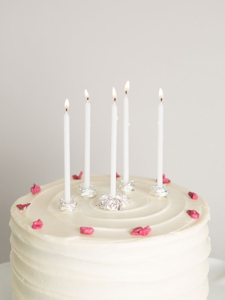 Classic Silver Plated Rose Cake Candleholders Make The Perfect Gift For Mum And Will Be Enjoyed Many A Year To Come