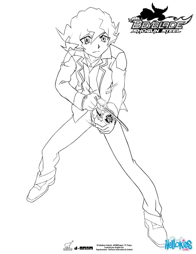 Shinobu attacks coloring page. More Beyblade content on hellokids ...