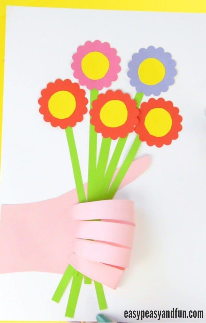 Handprint Flower Bouquet Craft - Mother's Day Idea ...