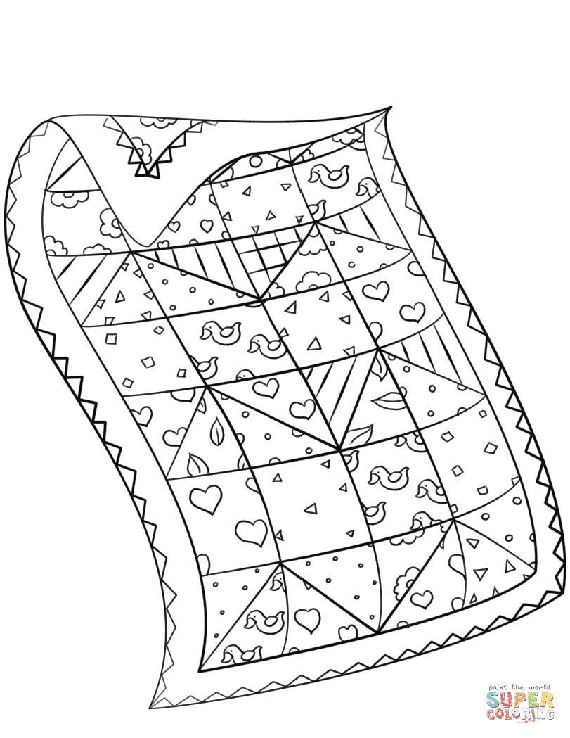 Quilt coloring page Free Printable Coloring Pages  Arte com fita