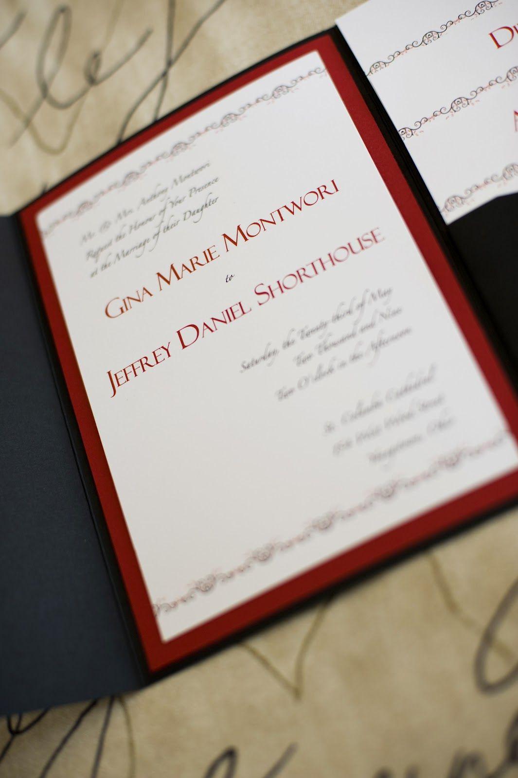 handmade wedding invitation patterns | ... + Jeffs Custom Designed ...