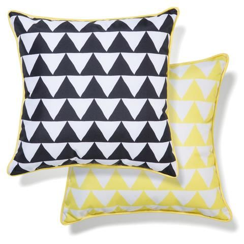 Outdoor Chair Cushion  Yellow/Black Triangles | Kmart