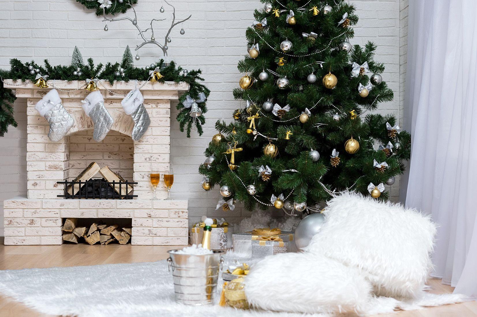 Christmas backdrop christmas tree background gift backdrop j