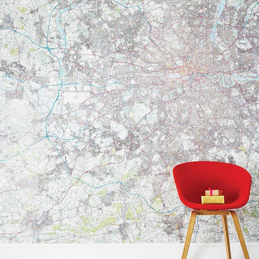 Personalised Map Wallpaper Map Wallpaper Wallpaper Prepasted
