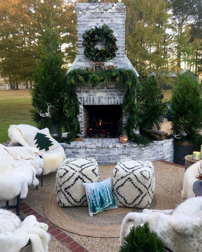 Outdoor Christmas Fireplace Decor Outdoor Christmas Fireplace - christmas fireplace decor