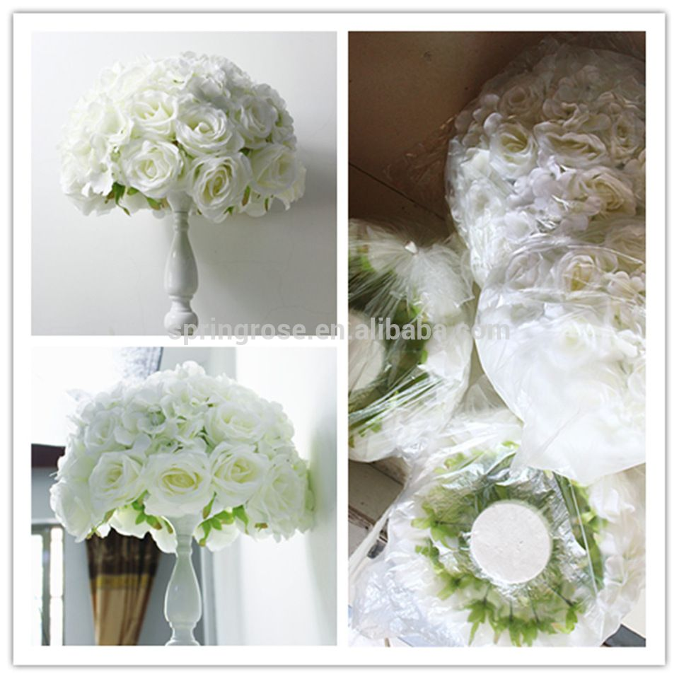 white artificial table flower ball wedding event table centerpiece ...