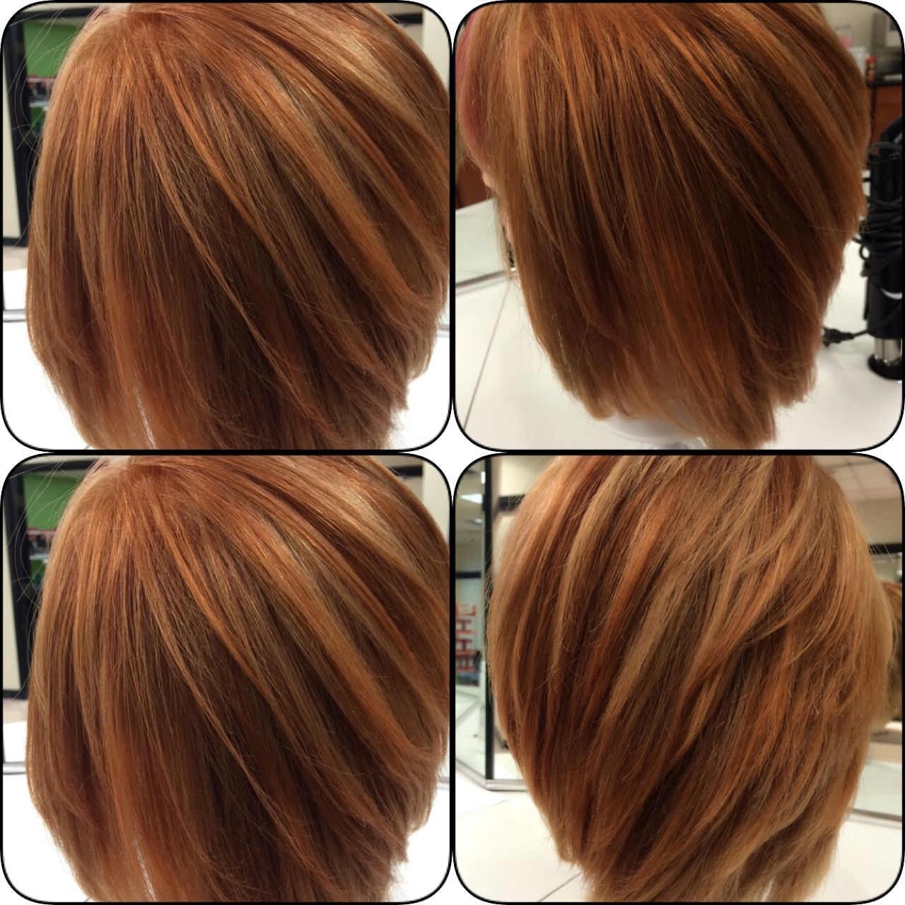 Copper Hair Color Pinwheel Placement By Vonda Matrix Socolor