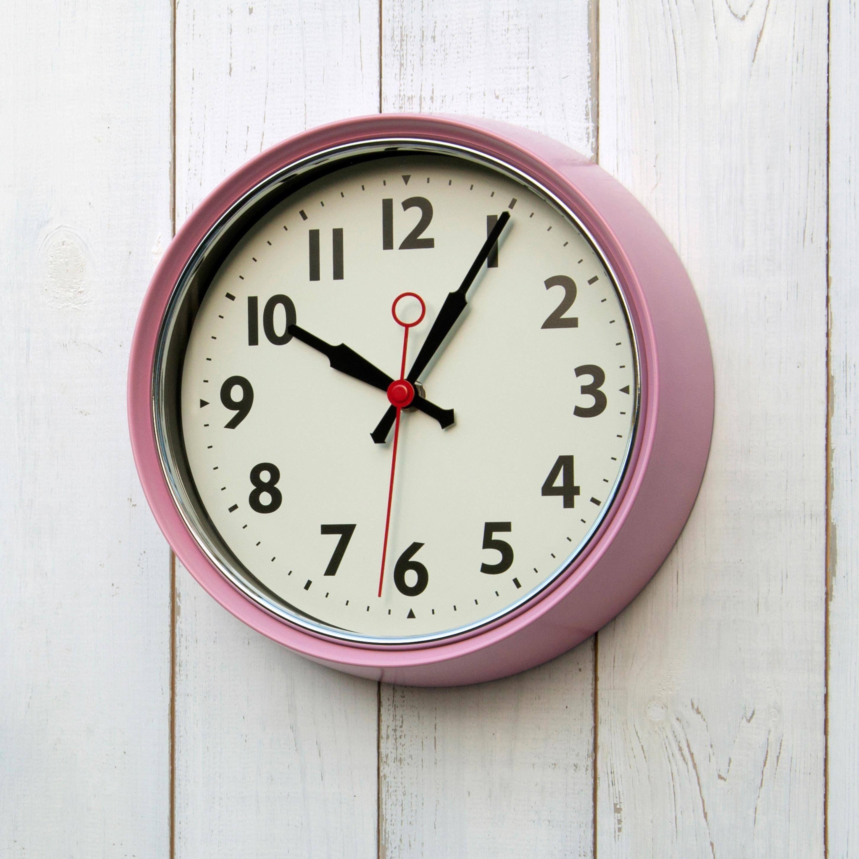 1950 S Pink Metal Wall Clock Brown Wall Clocks 1950s Wall Clock Green Wall Clocks