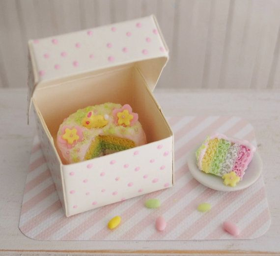 Miniature+Easter+Cake+With+Pastel+Layers+by+LittleThingsByAnna,+$23.50