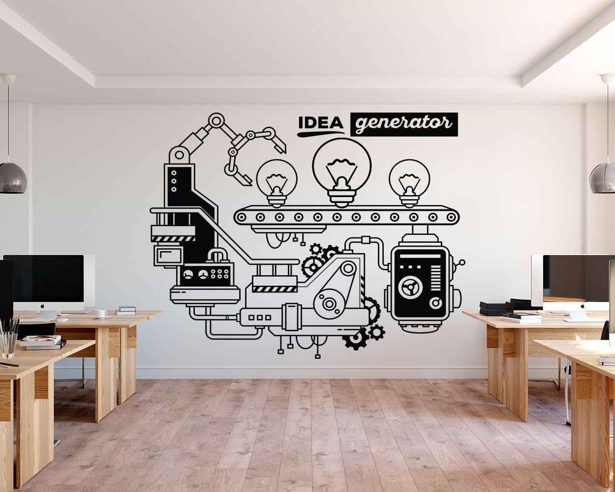 Idea Generator Office Wall Decor Kuarki Lifestyle Solutions Office Wall Decals Office Wall Design Office Wall Graphics