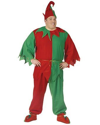 Jolly Elf Adult Men/'s Costume Green Shirt Red Pants Forum Novelties Christmas