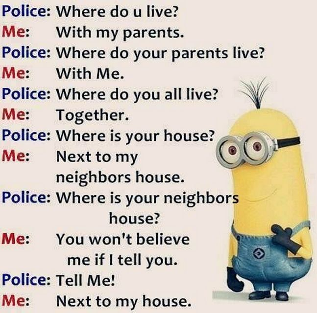 Today Top Funny Minions quotes (07:27:52 PM, Friday 02 ...