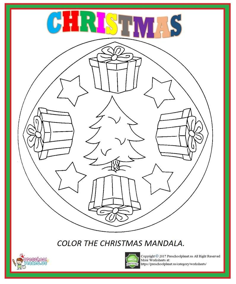 47+ Christmas mandala coloring pages pdf ideas