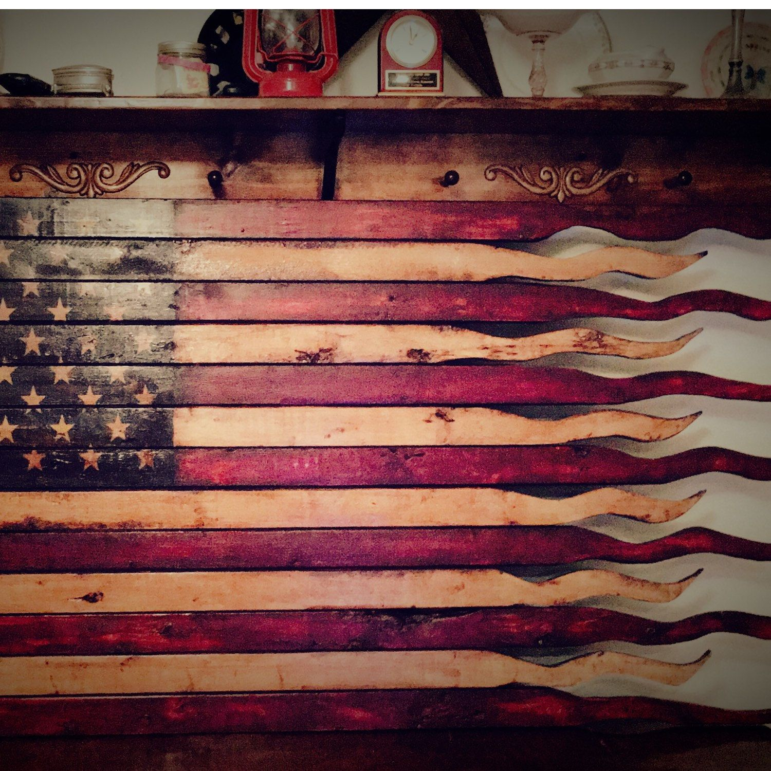 Just Finished This Huge 60 American Battle Flag Headed For A Barn Outside Of St Louis Mo Large American Flag Wooden American Flag Rustic American Flag