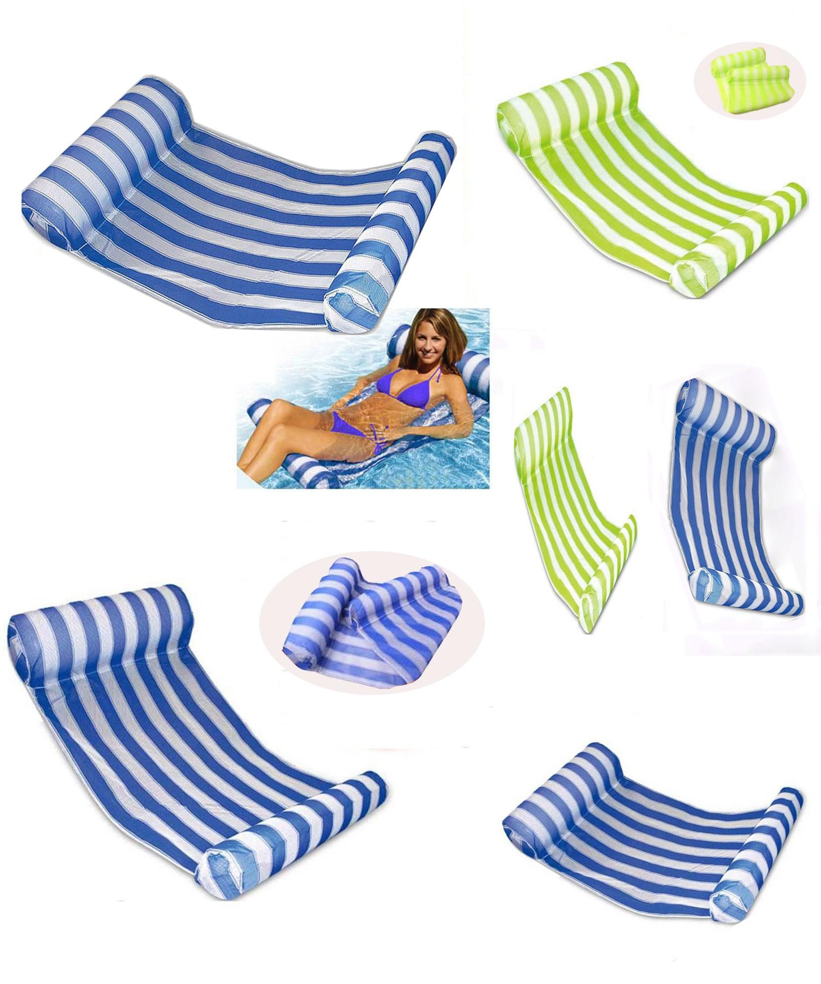 accessories inflatable water color mattress swimming pool reviews air floating float stripe sleeping outdoor hammock chair bed lounger