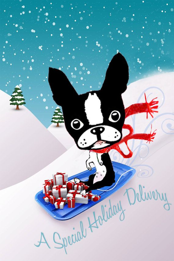 Boston Terrier Holiday Christmas card collection by onesmalldog ...
