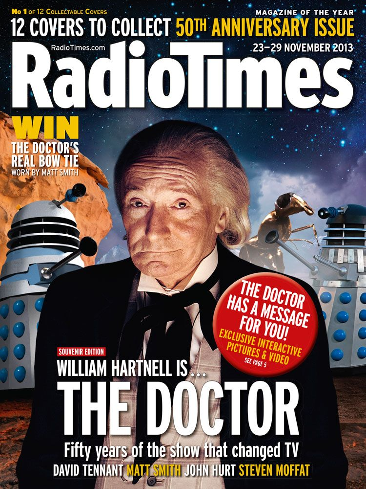 Doctor Who 50th anniversary celebrations begin with 12 Radio Times covers - see the first one here! #12doctor
