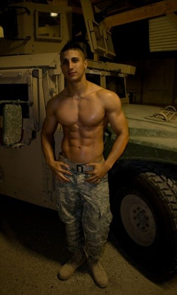 sexy gay army men