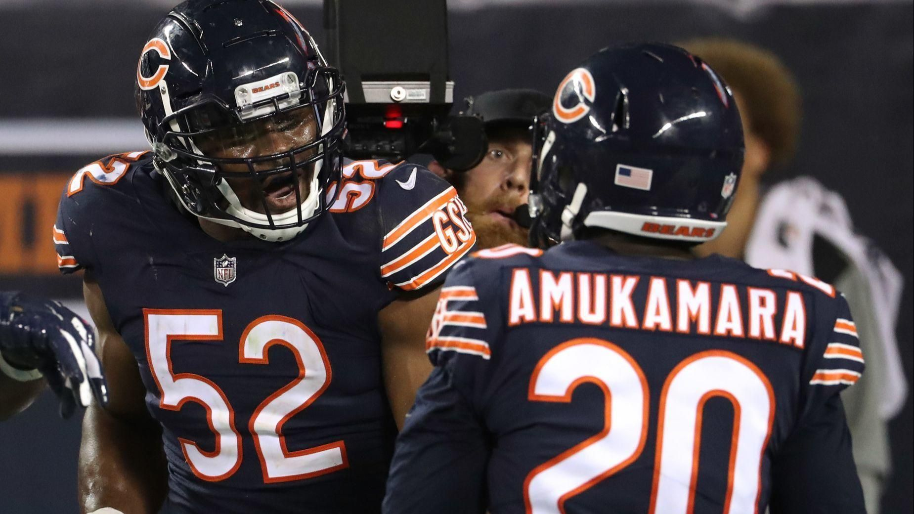 Khalil Mack And Prince Amukamara Chicago Bears Bears Football Bear Photos