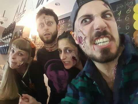 make up zombi