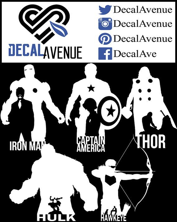 Avengers Collection 1 Vinyl Decal Sticker Car By Decalavenue Vinyl Decals Avengers Vinyl Decal Stickers