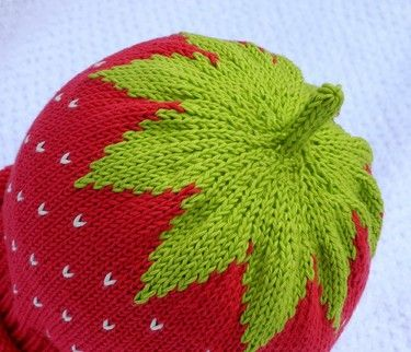 Strawberry Hat Baby Stricken Mütze Stricken Und Baby Stricken