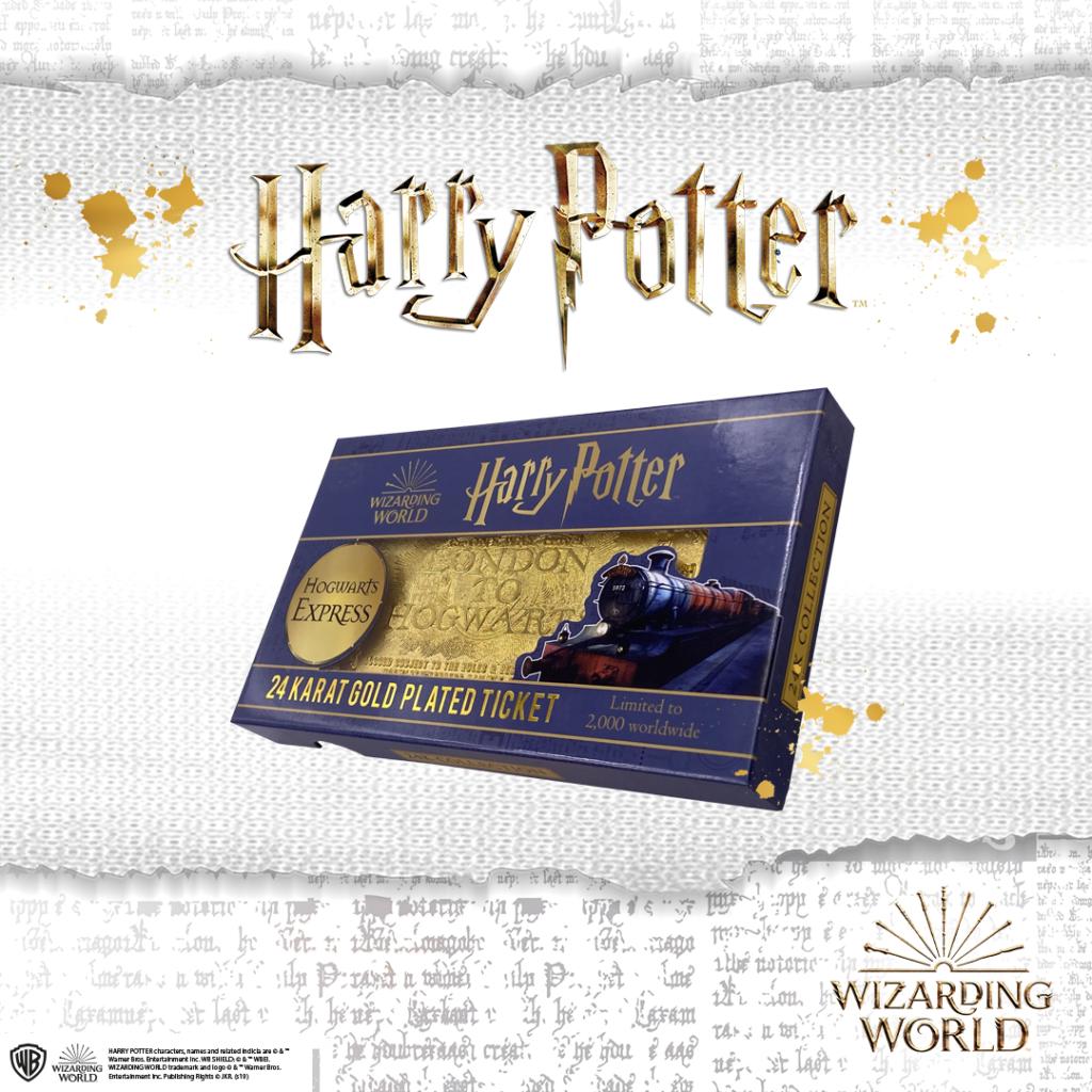 Fansunleashed Zavvi Releases 24 Karat Gold Hogwarts Express Ticket Zavvi S Newest Limited Edition Merch Doe Hogwarts Express Ticket Hogwarts Express Hogwarts