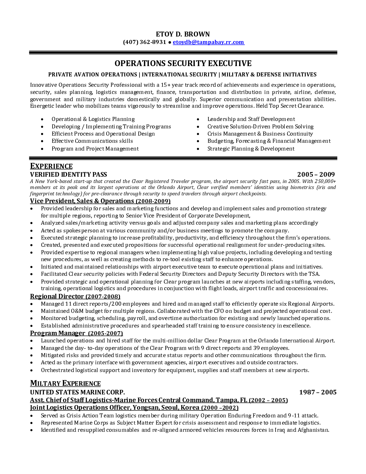 Military Contractor Sample Resume Assistance Dog Trainer Cover Letter  Security Operations Manager Supervisor Resumehtml  Vice President Of Operations Resume