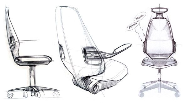 Veryday The Ideal Chair According To The Users Industrial Design Sketch Furniture Sketch Chair Design