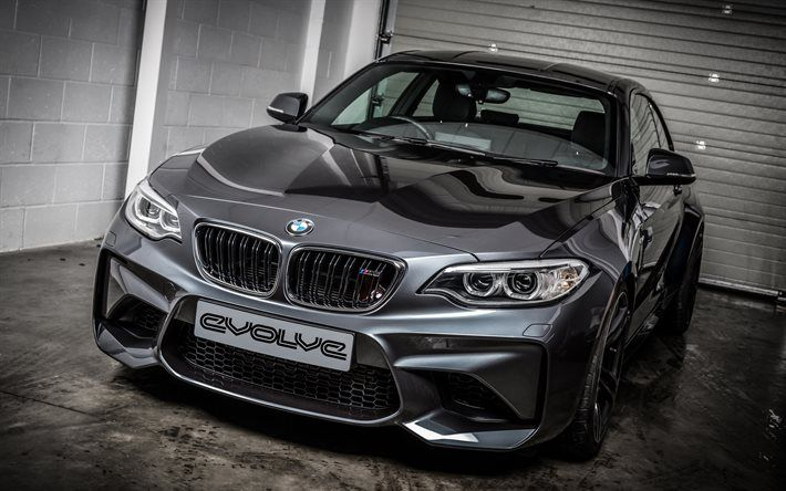 Download Wallpapers Bmw M2 2017 Cars Evolve Tuning Coupe