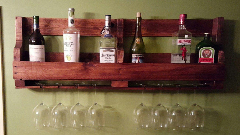 Wine And Wine Glass Pallet Rack Etsy In 2020 Pallet Rack Rack Wine Glass