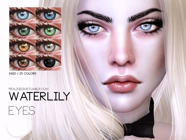 The Sims Resource: Waterlily Eyes N120 by Pralinesims • Sims 4 Downloads