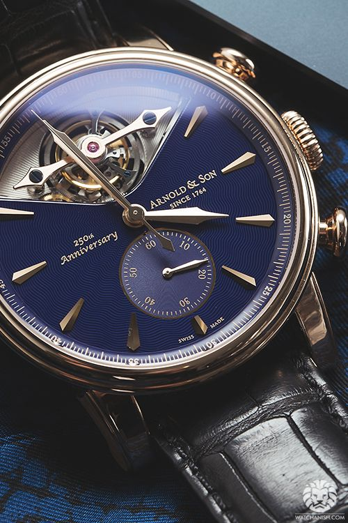 ARNOLD & SON watches. 250th. Anniversary Since 1764 Gold & Amp - Blue.