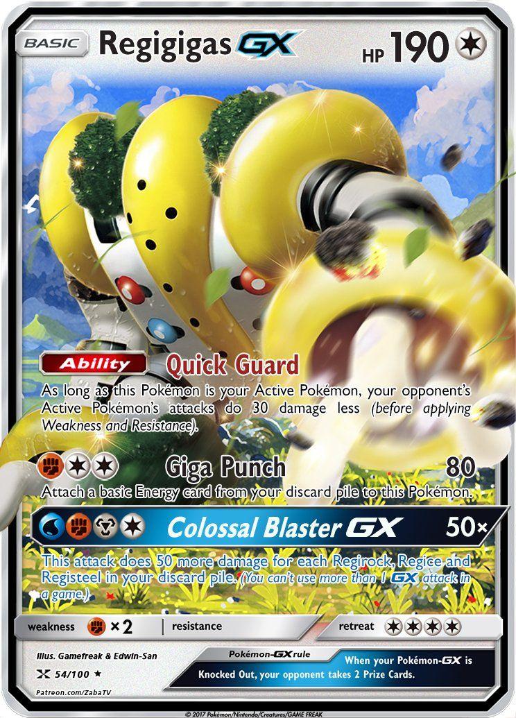 Regigigas GX Custom Pokemon Card