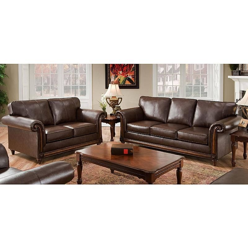 Simmons San Diego Sofa Coffee | Sectional sofas | Living room sets ...