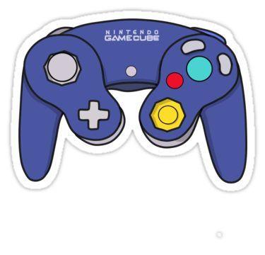Nintendo Gamecube Controller Design Sticker Gamecube Controller Controller Design Stickers