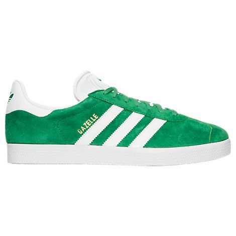 ADIDAS ORIGINALS ADIDAS MEN'S GAZELLE SPORT PACK CASUAL SHOES, GREEN.  #adidasoriginals #shoes