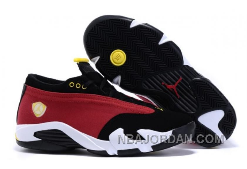 """promo code 2114a 61f87 ... Yellow Christmas Deals Buy 2016 Air Jordans 14 Retro Low """"NBA Womens  Mens Discount from Reliable 2016 Air ."""