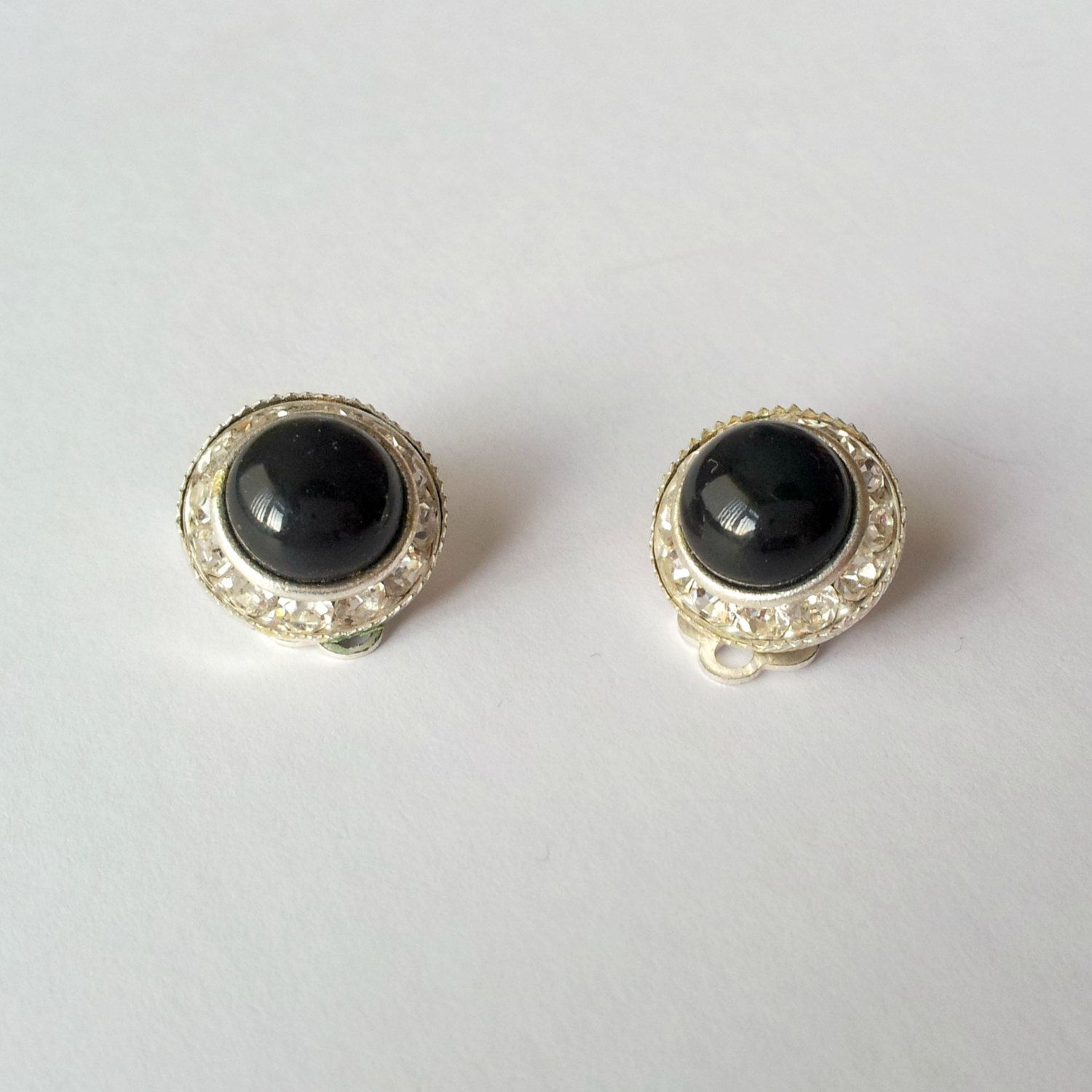 svea earrings round silver black earring en pearl silverpearl small