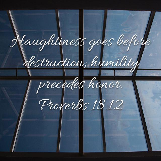 Proverbs 18:12