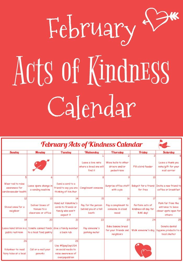 Valentine Calendar Ideas : Continue spreading joy to others with this february acts