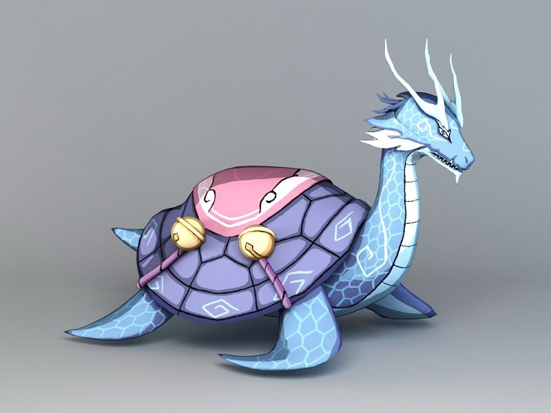Chinese Dragon Turtle 3d model 3ds Max files free download