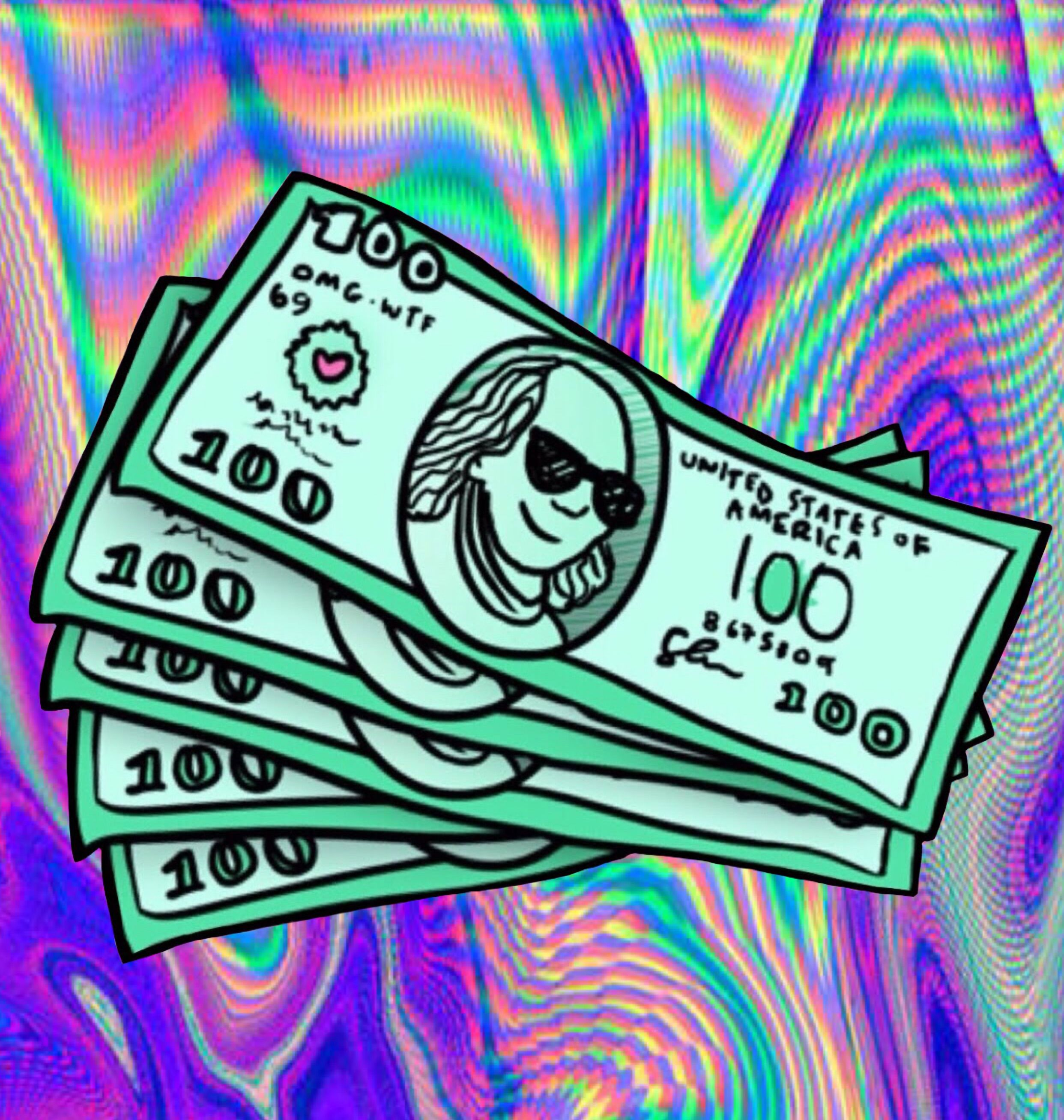 money green drawing edit trippy colorful cool
