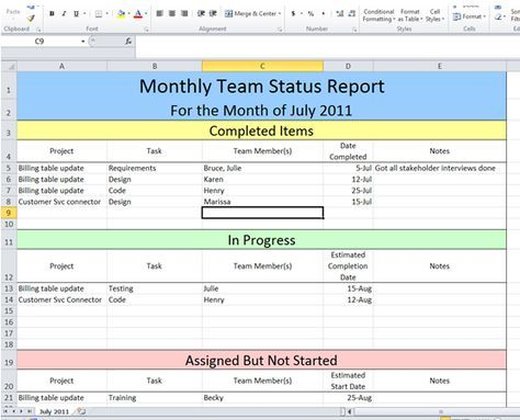 Get Project Status Report Template Excel \u2013 ExcelTemple Tools of My