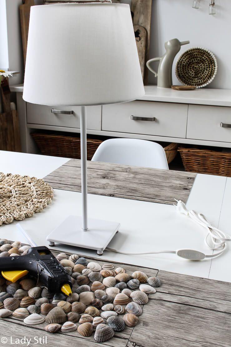 Diy Muschel Lampe Haus Deko Lampen Einrichtungsideen