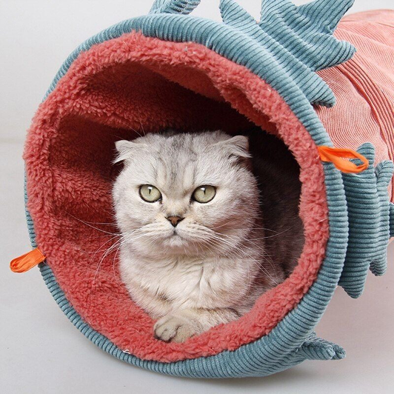 Funny Pet Cat Tunnel Play Tubes Balls Collapsible Crinkle