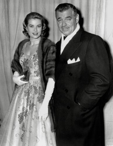 Grace Kelly y Clark Gable en la premiere de 'Mogambo', dirigida por John Ford en 1954
