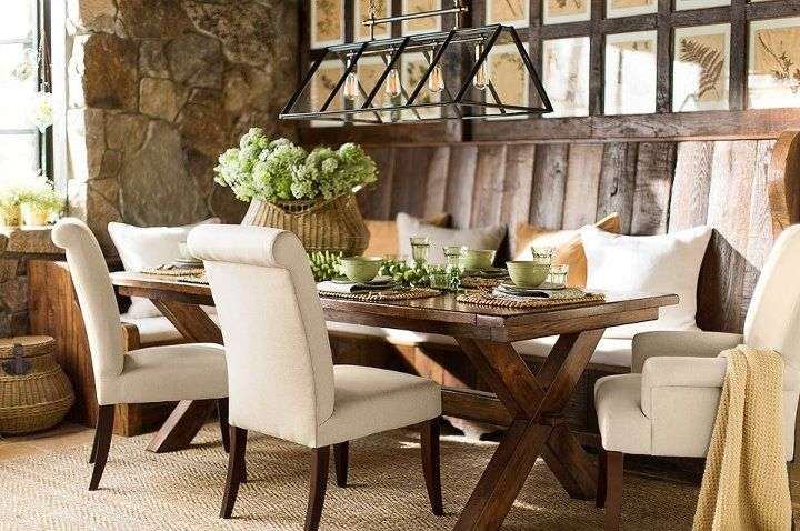 Add Style And Comfort To A Builtin Bench With Throw Pillows That Mesmerizing Dining Room Tables Pottery Barn Inspiration