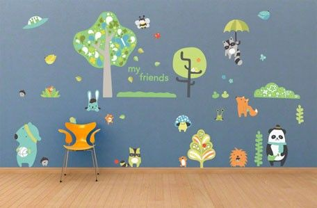 Timberland Friends Boy Repositionable Canvas Wall Decals From Oopsy Daisy Fine Art For Kids Kids Wall Decals Kids Wall Murals Kids Room Wall Decals